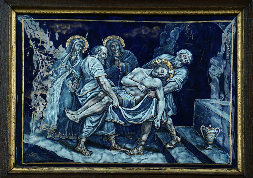 The Way of the Cross - Station 14 - Jesus is laid in the tomb.